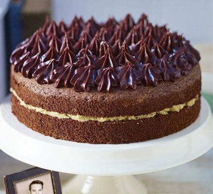 John Whaites Chocolate chiffon cake with salted caramel butter cream