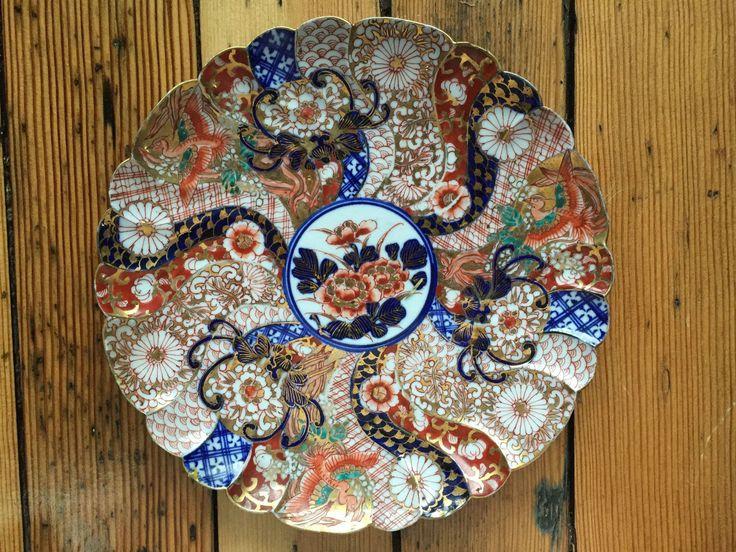 Antique Japanese Edo Fine Imari Porcelain Scalloped Plate Signed Floral | eBay & 187 best Imari images on Pinterest | Japanese porcelain Ceramic art ...