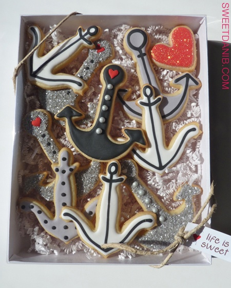 Anchor Cookie Box by Sweet Dani B ... I can't get over these anchors! I LOVE them!