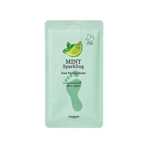 [SKINFOOD] Mint Sparkling Foot Peeling Socks (2PCS) - Newtle