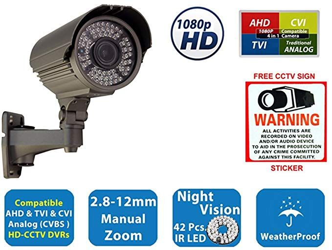 Evertech Full Hd 1080p 2 1mp Bullet Outdoor Security Camera With