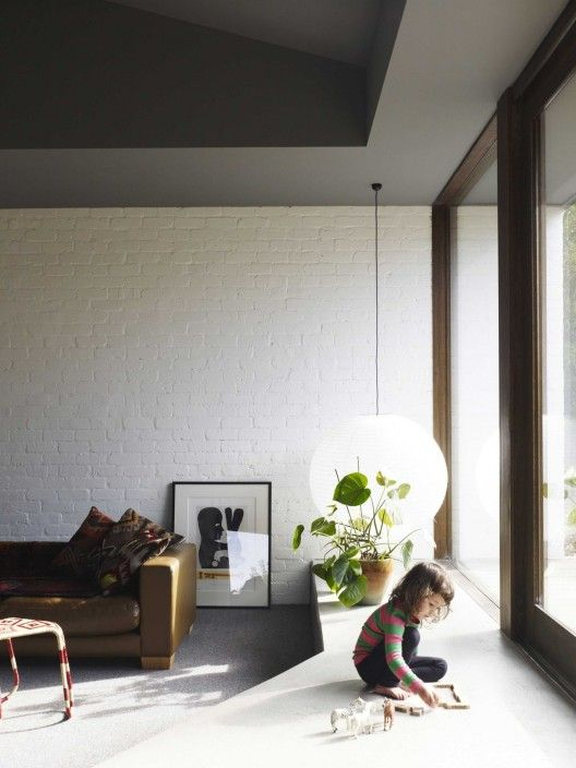 © Derek Swalwell  Architects: Kennedy Nolan Architects  House in Melbourne, Australia - love the super low light