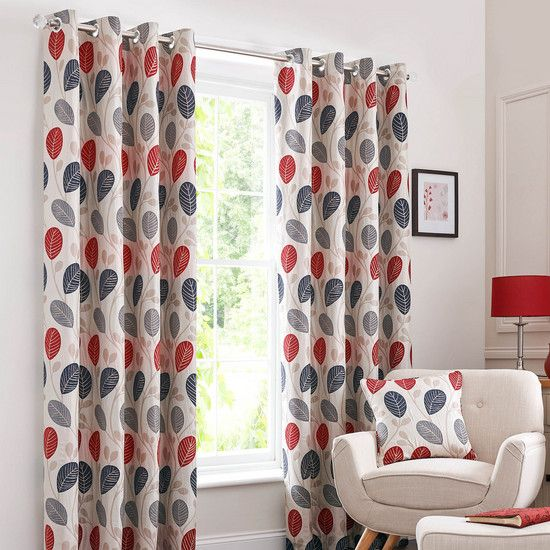 Red Turin Eyelet Curtain Collection Dunelm Kitchen