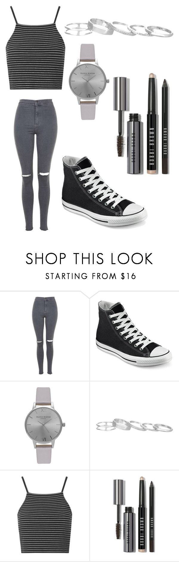 """Untitled #3"" by clizia9 ❤ liked on Polyvore featuring Topshop, Converse, Olivia Burton, Kendra Scott and Bobbi Brown Cosmetics"
