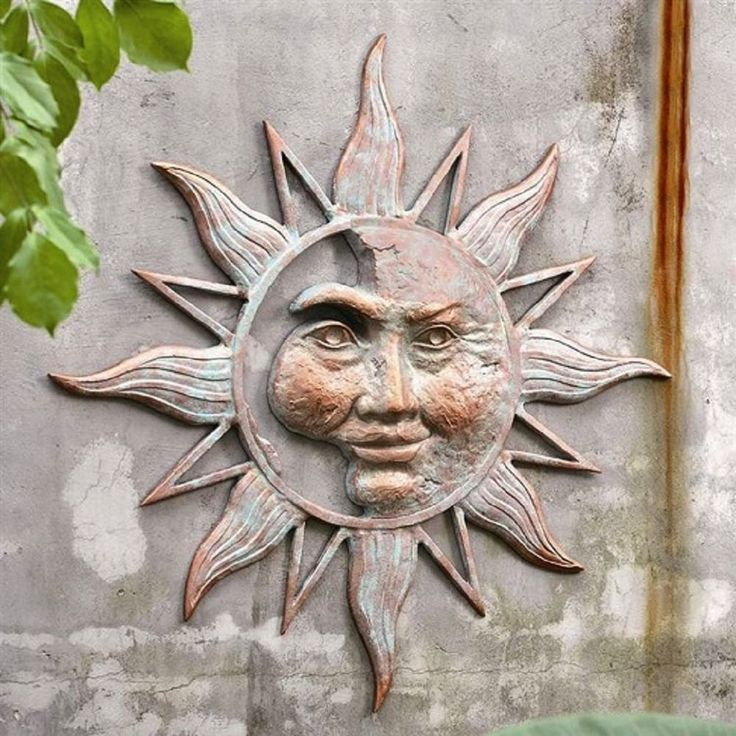 outside kitchen art creativity wall sun decor outdoor face dandy most