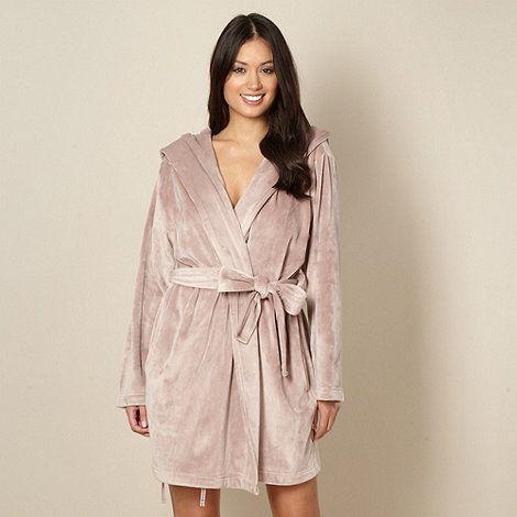 Fawn Short Moleskin Dressing Gown