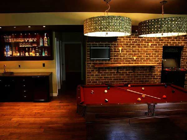 game room decor | ... Game Rooms Decorating Ideas Images. Basement Game Room Decorating with
