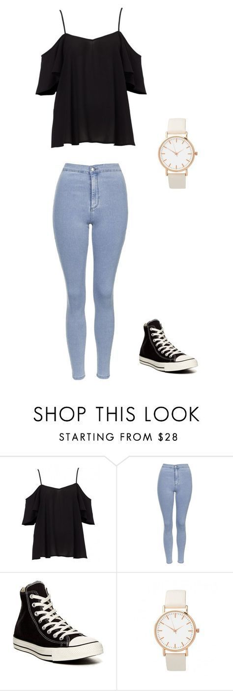 """""""Unbenannt #903"""" by littlewonder2504 ❤️ liked on Polyvore featuring Topshop and Converse – Jessi0412 ."""