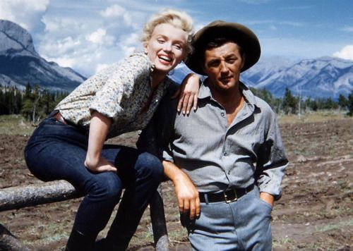 Marilyn Monroe and Robert Mitchemomna, Alberta, 1954.