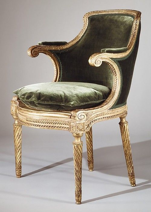 fauteuil de cabinet by georges jacob circa 1785 carved gilded beechwood with a caned seat. Black Bedroom Furniture Sets. Home Design Ideas