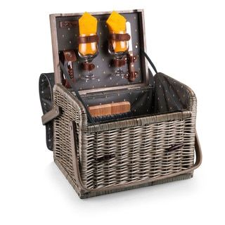 Shop for Picnic Time Anthology Collection Kabrio Wine and Cheese Basket. Get free delivery at Overstock.com - Your Online Kitchen