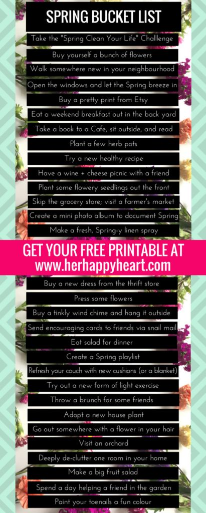 The ULTIMATE Spring Bucket List (+ a pretty printable for you!) | #spring #bucketlist #springbucketlist | Springspiration | Spring Inspired | An inspired life | spring aesethic | spring activities | living in the moment | live your best life