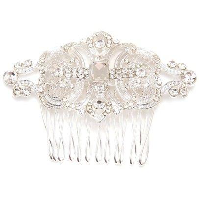 Victorian Swarovski Hair PieceOzsaleVR622-Silver