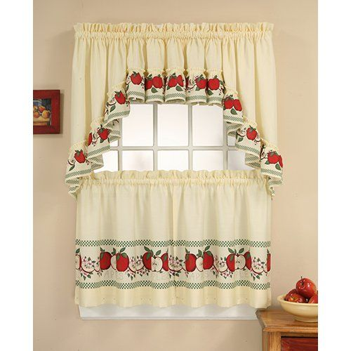 CHF Industries Red Delicious Kitchen Curtain Set | from hayneedle.com