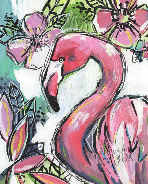 Mr. Flamingo - Fine Art Print - Flamingo Painting