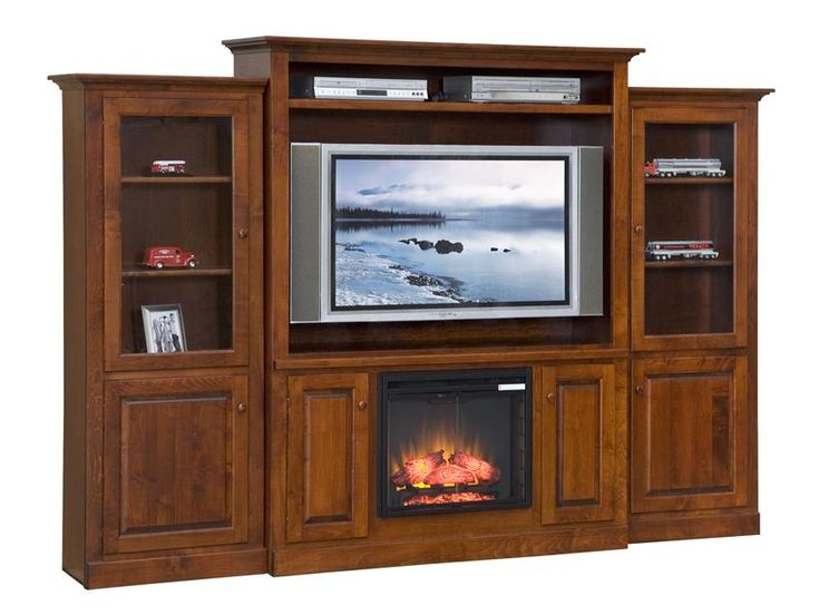 Amish Mayfair Fireplace Entertainment Center Amish