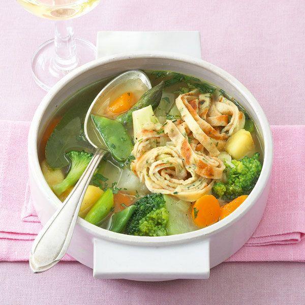 Gemüseeintopf mit Kräuterflädle