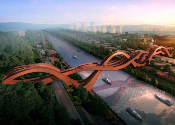 #Puente ondulado en China