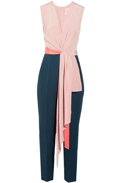 Roksanda - Rokuro Crepe De Chine And Jersey Jumpsuit - Blush - UK12