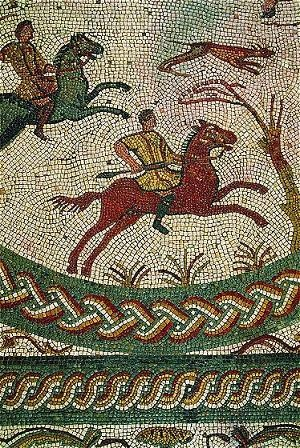 Mosaic from the largest Roman site in Portugal, Conímbriga, 15 km southwest of Coimbra.