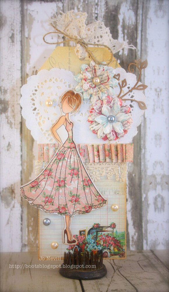 Prima Doll Engagement/Wedding Tag by craftykrafts on Etsy https://www.etsy.com/listing/180542062/prima-doll-engagementwedding-tag