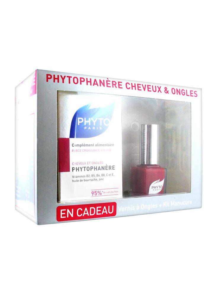 Дело Фито Phytophanère волос и ногтей 120 Гель-Caps + Лак для ногтей и Manucure Комплект Предлагаемая € 12,06