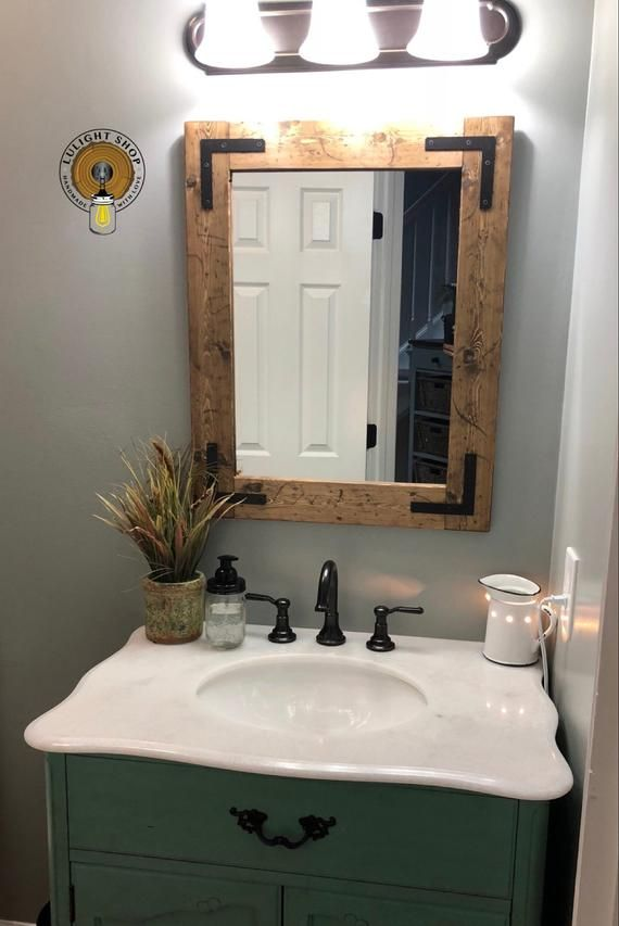 Rustic Distressed Mirror Farmhouse Mirror Wood Mirror Bathroom Mirror Wall Mirror Vanity Mirror Cottage Sma Bathroom Mirror Wood Mirror Distressed Mirror