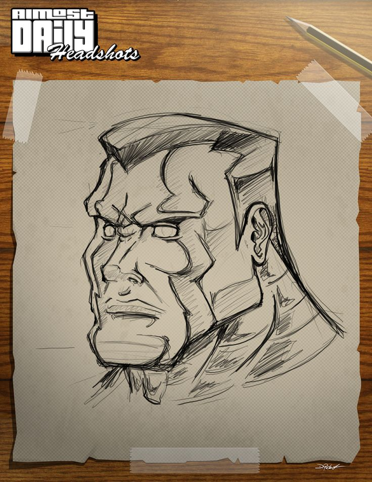 New Almost Daily Headshot. This time with COLOSSUS of Marvel.
