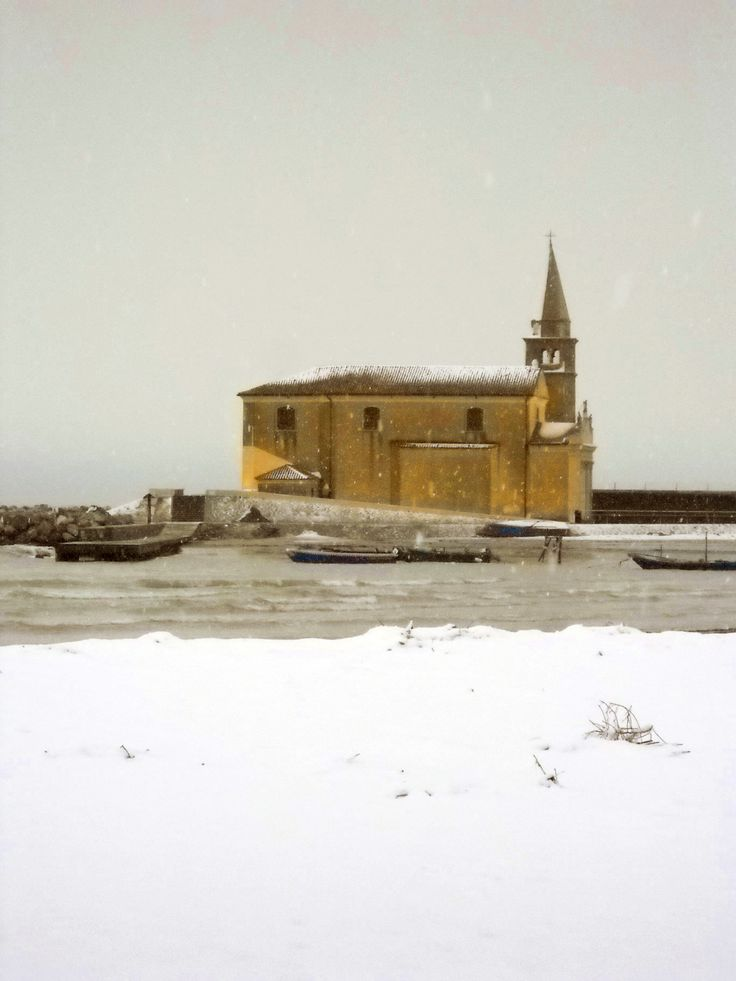 Caorle with the snow