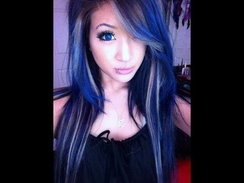 ▶ How I dyed my dark blue hair! Manic Panic: Rockabilly Blue - YouTube