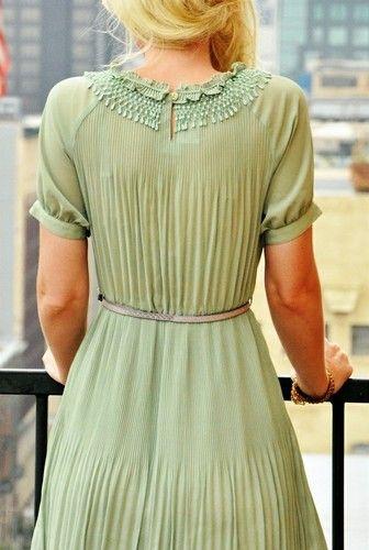 A vintage mint dress for the bridesmaids #mint #wedding