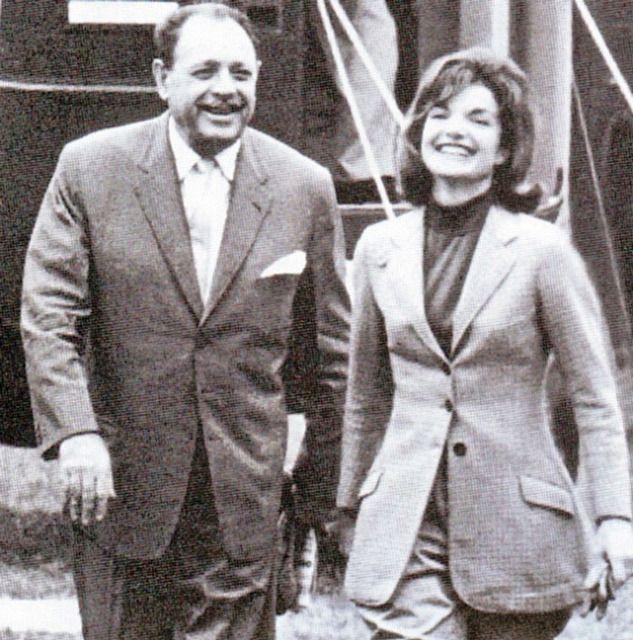 Jacqueline Kennedy and Ayub Khan, president of Pakistan.