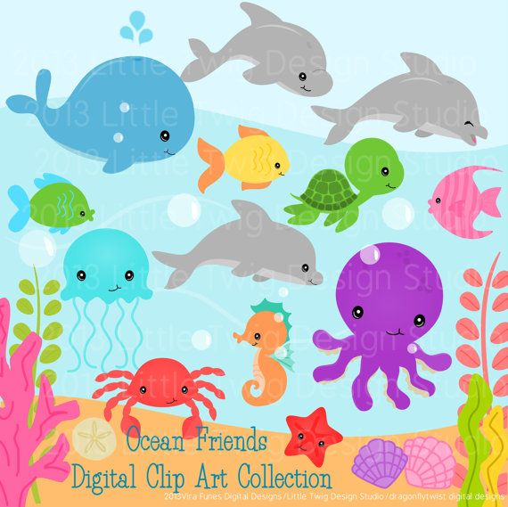 water animals clipart images - photo #50