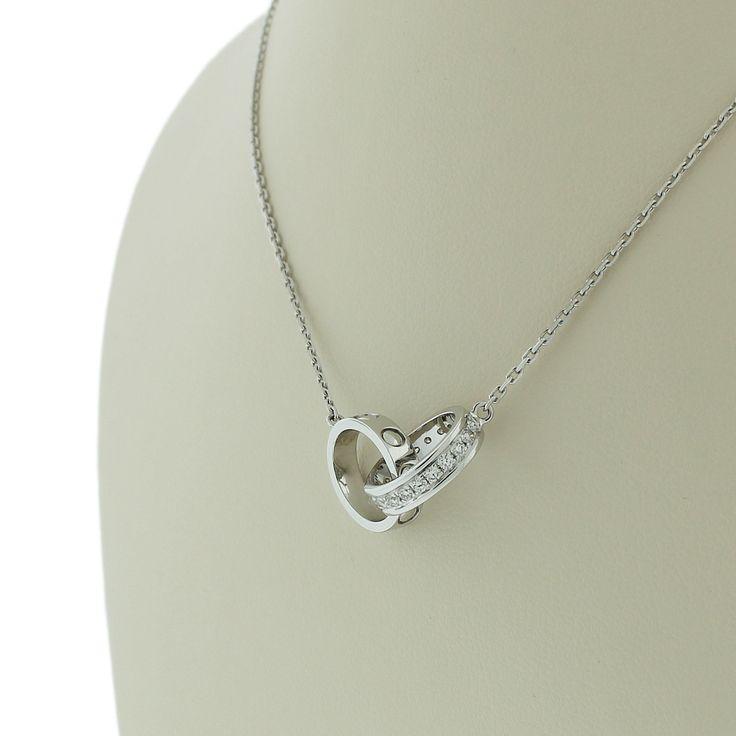 Pendentif en or blanc 18 carat serti de diamants