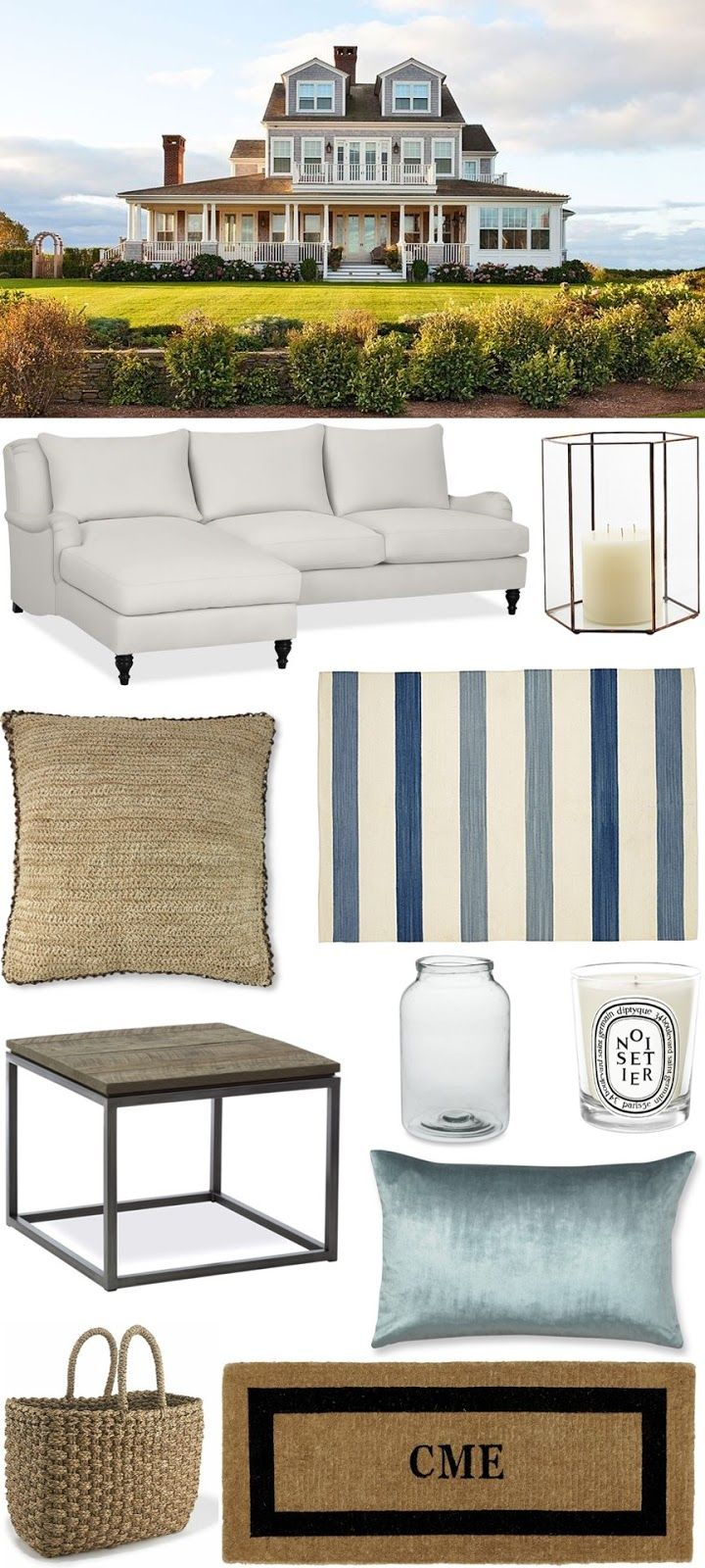 CHIC COASTAL LIVING: Nantucket Beach House: Get The Look