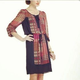 Super cute anthropology dress! Everyone have an easy fast. Gmar chasima Tova to you all!