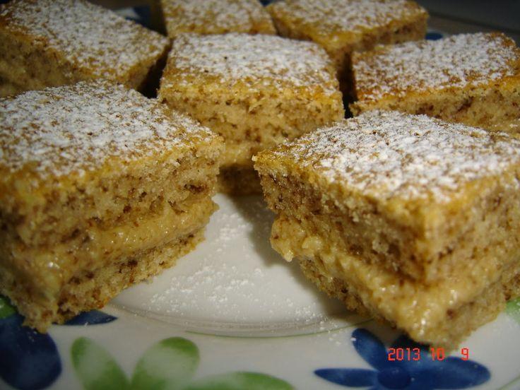 Betti gluténmentes konyhája: Diós krémmel töltött diós piskóta