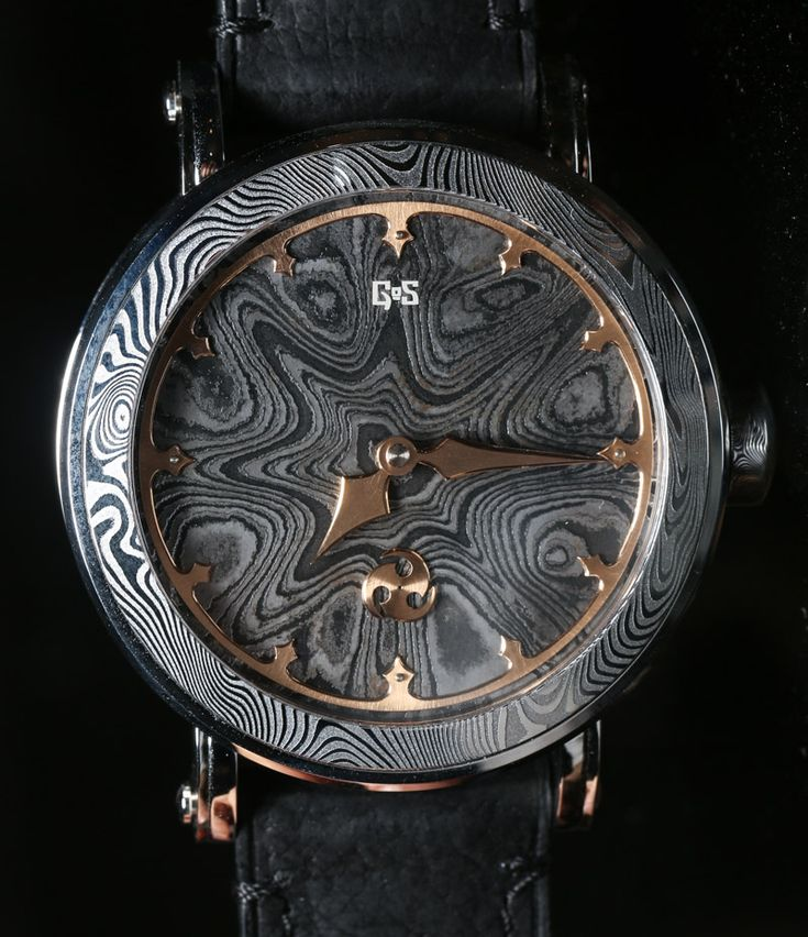 Gustafsson & Sjogren Watches With All Damascus Steel Cases And Movements; Hands On   gustafsson sjogren
