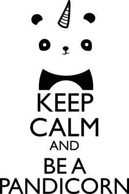 affiche-keep-calm-and-be-a-pandicorn- - unicorn - Rainbow - maison - décoration - chambre d'enfants - kids - home - accessoires - arc-en-ciel - affiche - poster - tableau - papeterie - illustration - panda - licorne