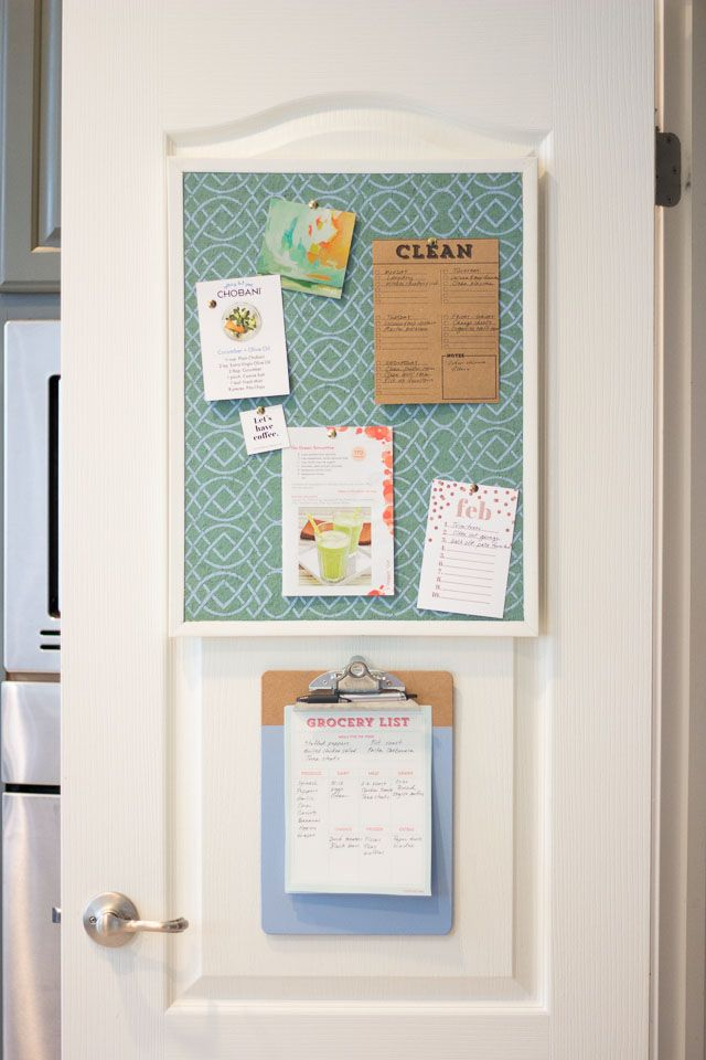 Transform your pantry door into a household command center