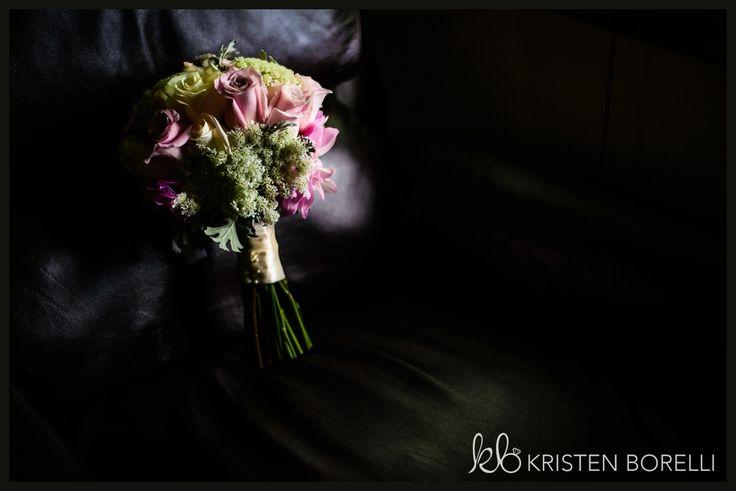 Pink and green wedding bouquet arrangement A Ganaraska Forest Wedding (Kristen Borelli Photography, Durham Region Wedding Photography, Ganaraska Forest Weddings, Vancouver Island Wedding Photographer, Victoria Wedding Photographer, Clarington Wedding Photographer)