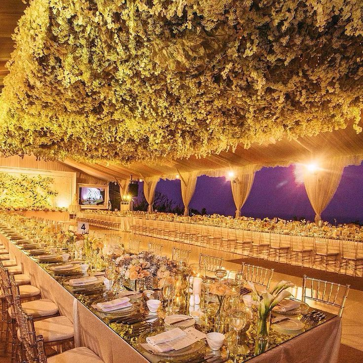 1642 best wedluxe design lab luxury weddings images on pinterest dining at dusk is already romantic but the floral ceiling created by takes this in bali indonesia to the next level junglespirit Gallery