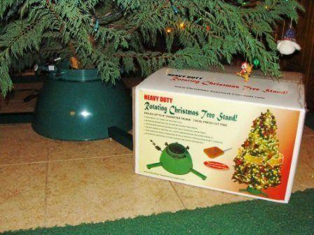 Fresh cut christmas tree rotating stand rcts mr by rcts for Motorized rotating christmas tree stand
