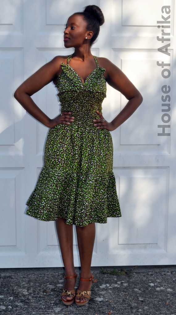 African print dress oozes cuteness by HouseofAfrika on Etsy