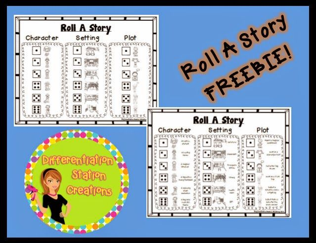Roll A Story FREEBIE!  Grab this great back to school roll a story freebie from Differentiation Station!
