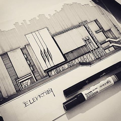 "4,931 Likes, 3 Comments - Sketch & Architecture platform (@sketch_arq) on Instagram: ""By @sketch_rajaei #sketch_arq"""