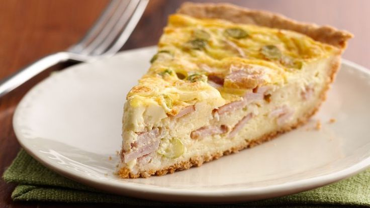 It's restaurant-style quiche at home!  This easy ham and Swiss cheese pie is sure to be a family-pleasing entrée.