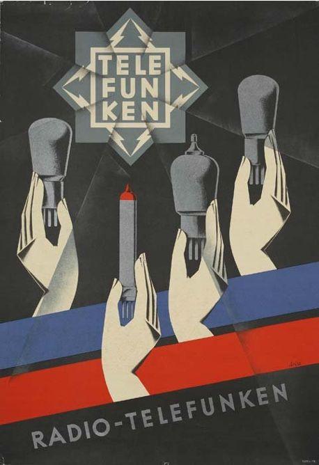 By Trias (Rolf Frey), ca 1930s, RADIO-TELEFUNKEN. (G)