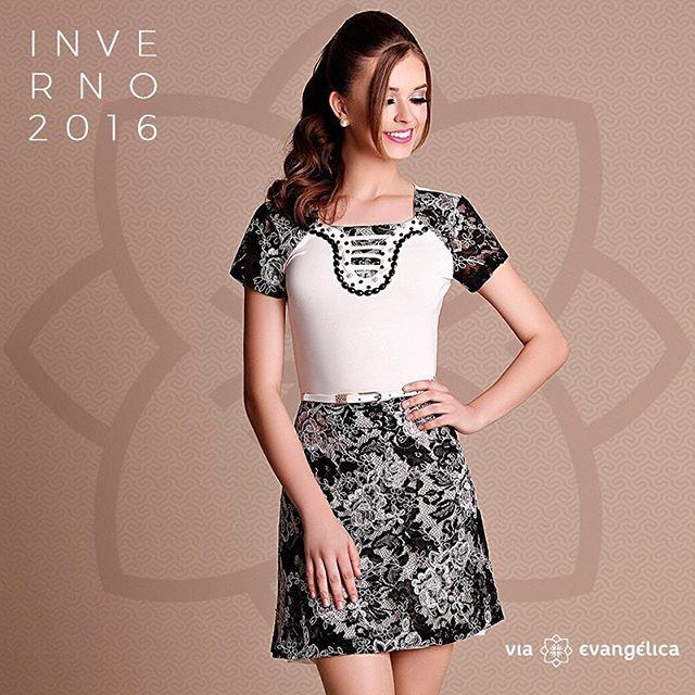 Acesse nosso shopping on-line e garanta já esse vestido lindo da @zunna_ribeiro! Compre ele aqui: www.viaevangelica.com.br  #zunnaribeiro #viaevangélica #modaevangélica #novidades #outonoinverno2016