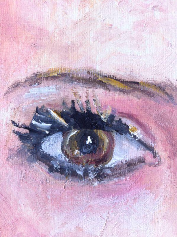 Eye, oil on paper